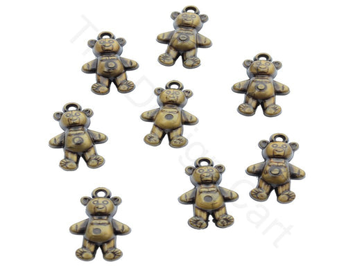 Golden Teddy Acrylic Beads