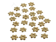 Golden Flower Shape Acrylic Beads (1769590423586)