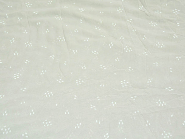 Light Gray Dots Digital Printed Georgette Fabric (4554896048197)