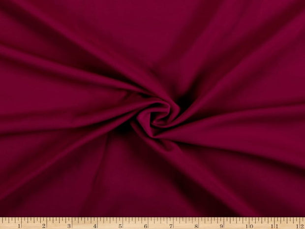 Raspberry Red Plain Crepe Fabric