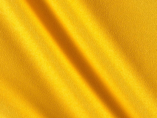 Yellow Plain Crepe Fabric