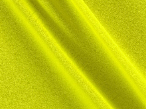 Neon Yellow Plain Crepe Fabric