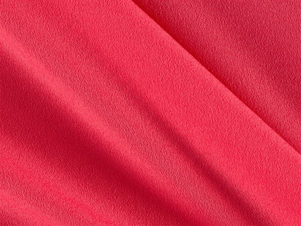 Pink Plain Crepe Fabric (1668347330594)