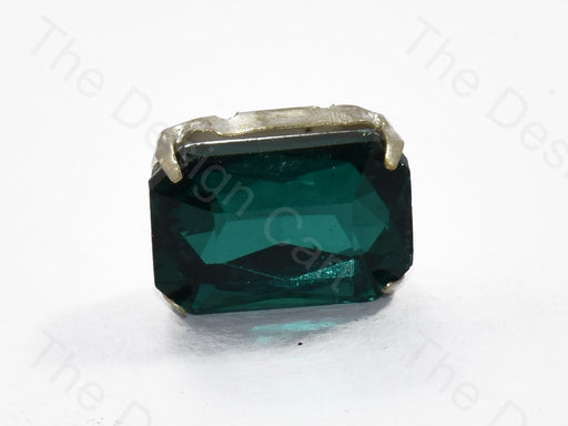 Emerald Green Rectangle Glass Stone with Catcher