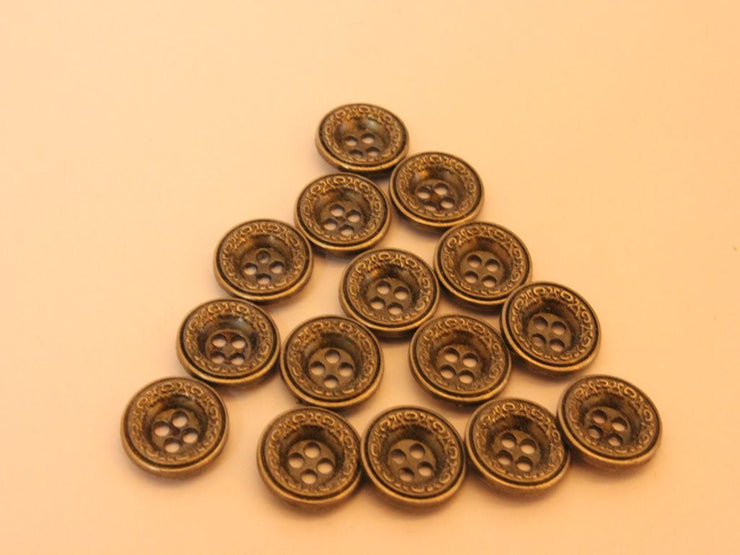 Golden Designer 4 Hole Metal Button (4534026993733)