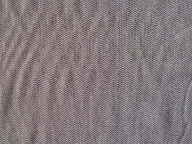 Light Gray Herringbone Wool Fabric