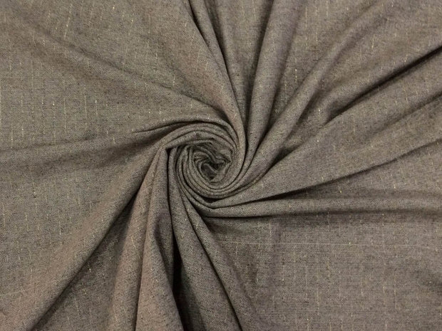 Light Gray Plain Lurex Wool Fabric