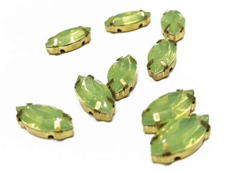 Light Green Eye Resin Stones with Catcher (15x7 mm) (4539600797765)