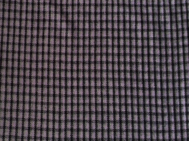 Light Pink Black Checks Wool Fabric