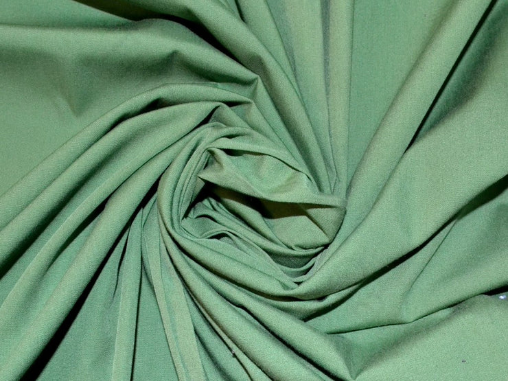 Parrot Green Poplin Lycra Fabric | The Design Cart