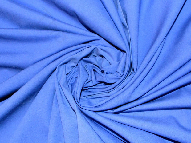 Periwrinkle Blue Poplin Lycra Fabric | The Design Cart