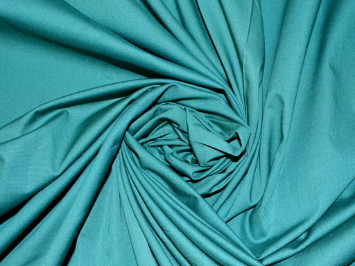 Dark Green Poplin Lycra Fabric