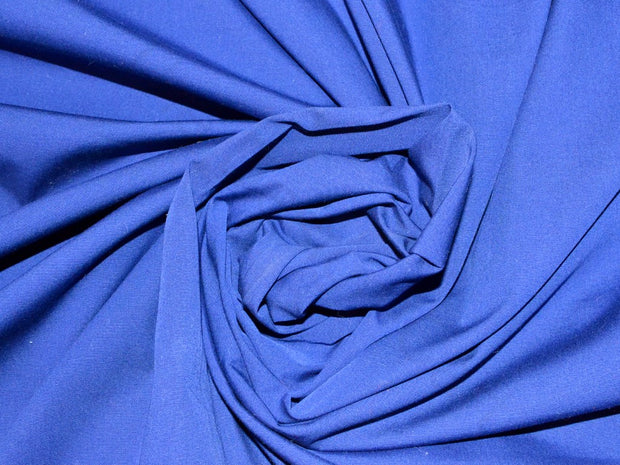Navy Blue Poplin Lycra Fabric | The Design Cart