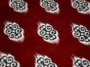 Maroon Motifs Design Cotton Fabric (1707982815266)