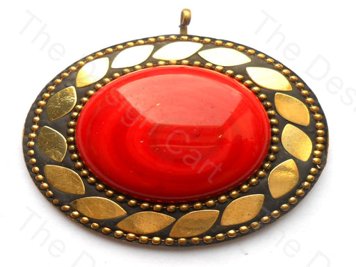 Red Resin / Lac Stone Pendant