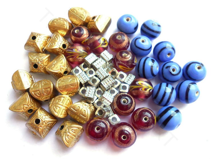 Assorted Beads Combo 15 | The Design Cart