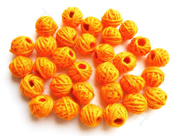 Dark Yellow Thread Beads (1672819441698)