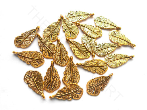 Golden German Silver Leaves Charms
