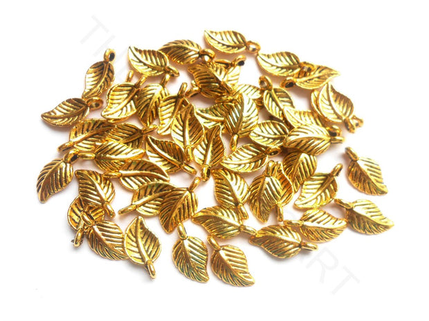 Golden German Silver Leaf Charms | The Design Cart (3791477702690)