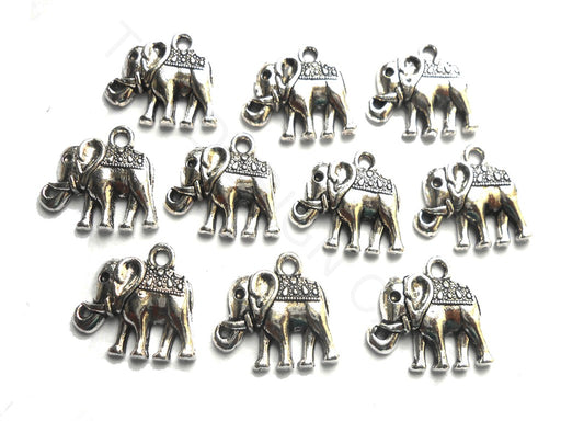 Silver German Silver Elephant Charms