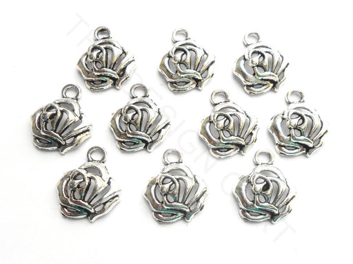 Silver German Silver Flower Charms