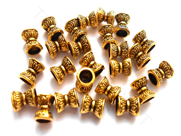 Golden Drum Spacer Beads | The Design Cart (4256479838277)