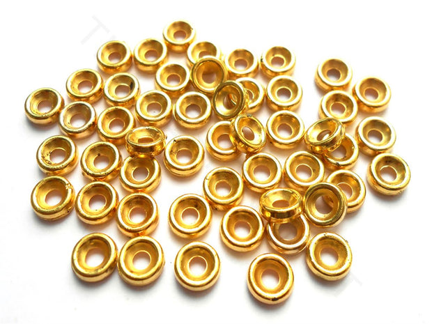 Golden Acrylic Chakri Spacer Beads | The Design Cart (4256479903813)