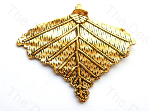 Leaf Design German Silver Pendant