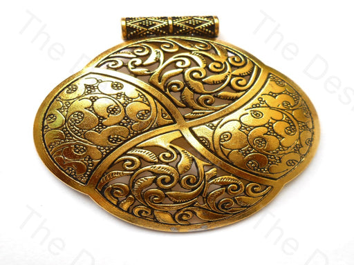 Design 1 Antique Golden German Silver Pendant