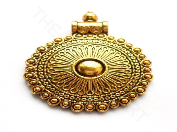 Antique Golden Design Pendant | The Design Cart (3922559565858)