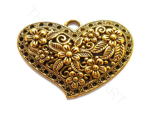 Oxidized Golden Heart Designer Pendant