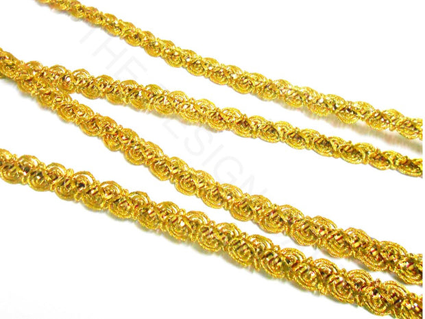 Golden Twisted Zari Lace | The Design Cart (3791477964834)
