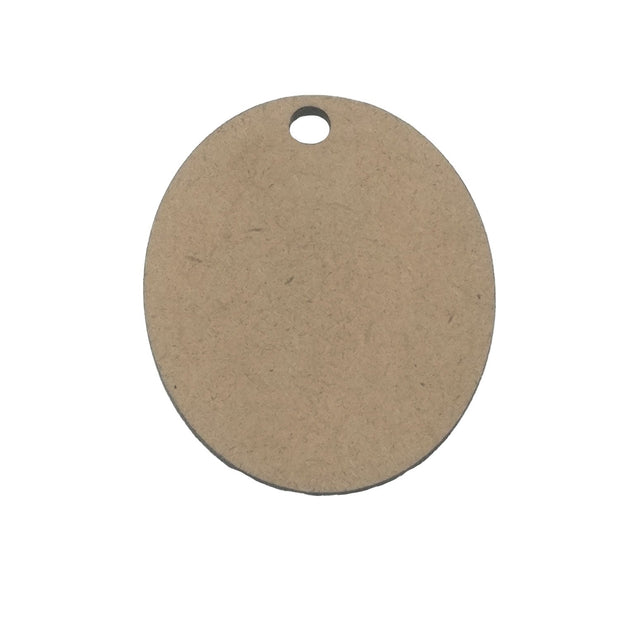 Brown Oval Wooden Pendant Base (40x33x2 mm) (4537995558981)