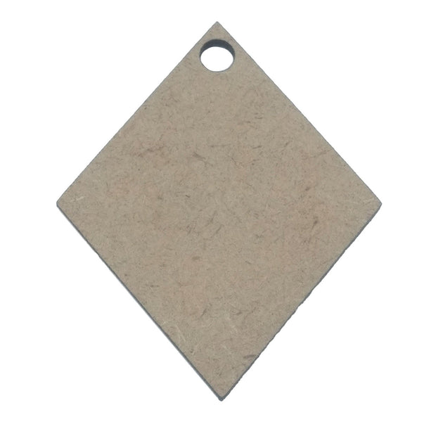 Brown Rhombus Wooden Pendant Base (43.5x36x2 mm) (4537994641477)