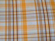 Yellow Brown Checks Cotton Fabric | The Design Cart (1857484652578)