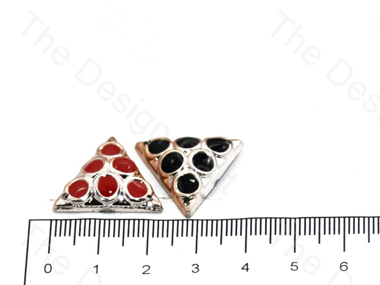 Triangular Plastic Stone With Enamel (398328856610)