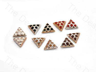 Triangular Plastic Stone With Enamel