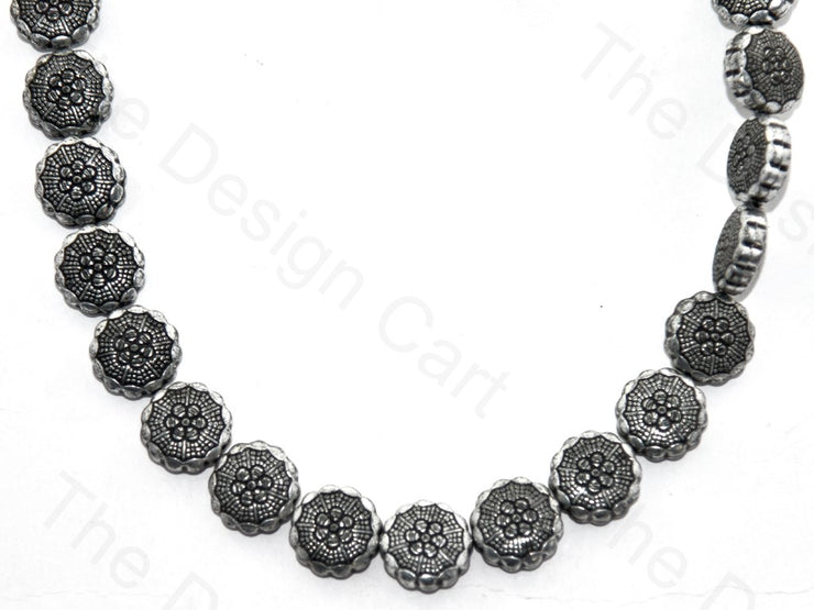Silver Black Sunflower Plastic Stones (398354251810)