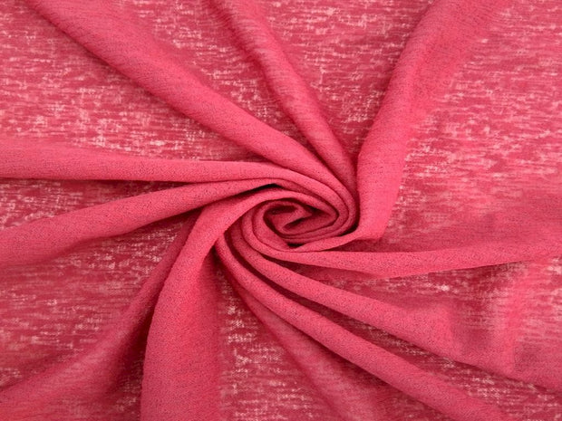 Maroon Textured Plain Cotton Lycra Fabric
