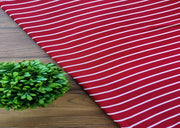 Maroon White Stripes Printed Poly Crepe Fabric