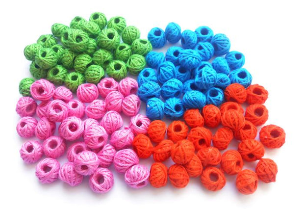 Multicolour Assorted Pack of Thread Beads (4530919735365)