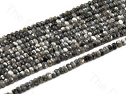 4 mm Gray Black Rondelle Jade Quartz Stones (12347607379)