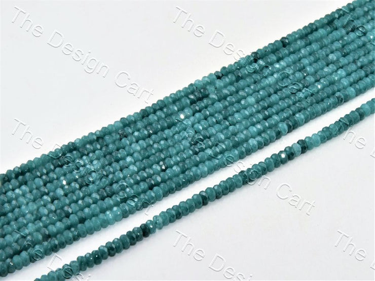 4 mm Sea Green Rondelle Jade Quartz Stones (12355754707)
