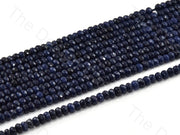 4 mm Midnight Blue Rondelle Jade Quartz Stones (12355756115)