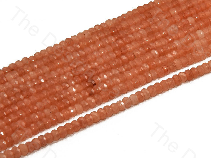 4 mm Coral Orange Rondelle Jade Quartz Stones (12355757203)