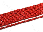 4 mm Bright Red Rondelle Jade Quartz Stones (12355758419)