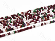 4 mm Multicolor Design 4 Rondelle Jade Quartz Stones (12355760787)