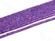 4 mm Purple Rondelle Jade Quartz Stones (12355761555)