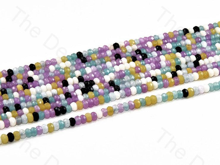 4 mm Multicolor Design 5 Rondelle Jade Quartz Stones (12355763411)