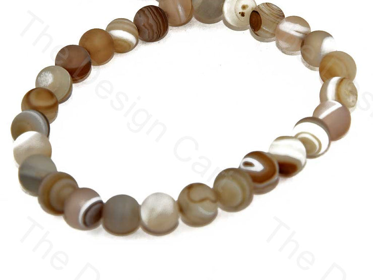 Brown White Rings Rondelle Onyx Stones (393232023586)